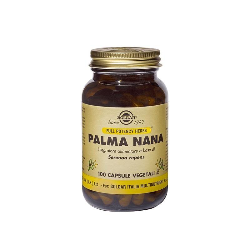 SOLGAR - palma nana 100 capsule vegetali - integratore per il benessere dell'apparato urogenitale maschile