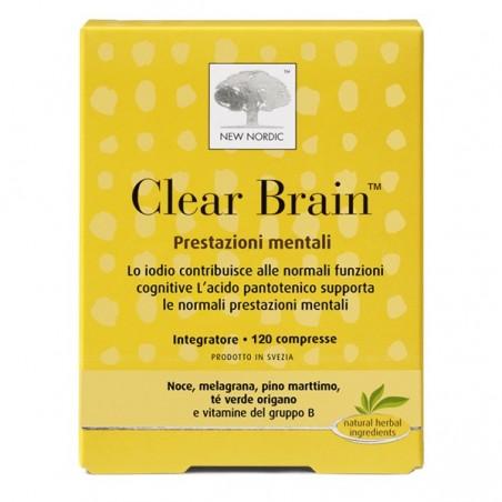 NEW NORDIC - Clear Brain 120 Compresse - Integratore alimentare per la memoria