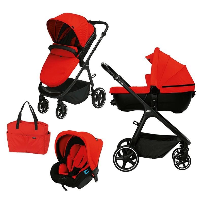 Brevi - Adon - Trio con Navicella Omologata colore Rosso Sport 233