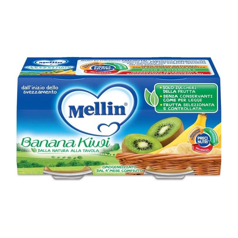 MELLIN - Omogeneizzato Banana Kiwi 6 vasetti da 100 Gr