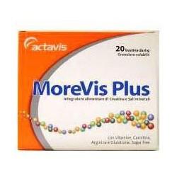 Morevis Plus 20 Bustine - Integratore Per Il Tono Ed Energia A Base Di Creatina E Sali Minerali