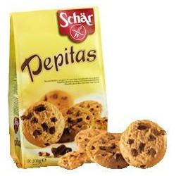 Biscotti Pepitas Con Pezzi Di Cioccolato Per Celiaci Senza Glutine 200 G