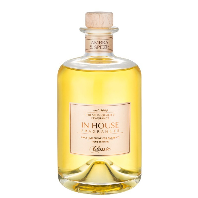 IN HOUSE FRAGRANCES - Classic - Ambra E Spezie Diffusore Vetro 500 ml