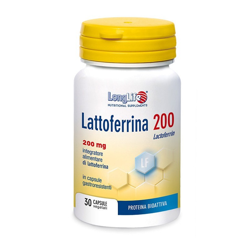 LONGLIFE - Lattoferrina 200 - Integratore per il sistema immunitario 30 capsule