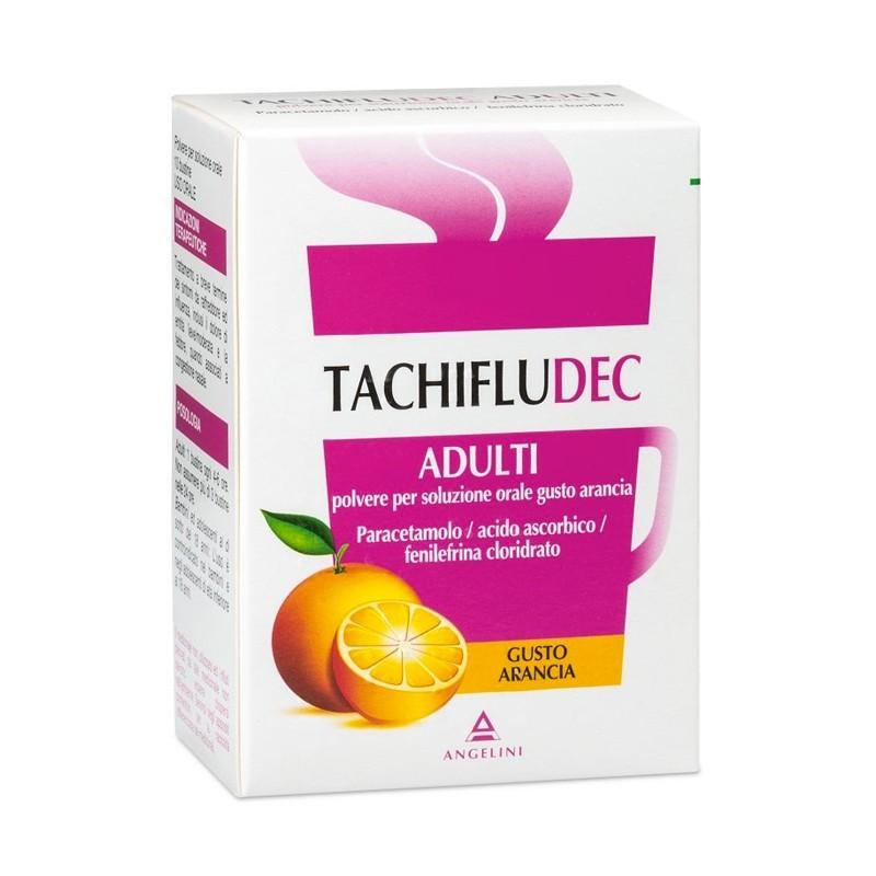 Tachifludec Adulti - analgesico antipiretico 10 bustine gusto arancia