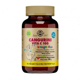 cangurini vitamina c 100 - integratore immunostimolante 90 tavolette masticabili gusto arancia