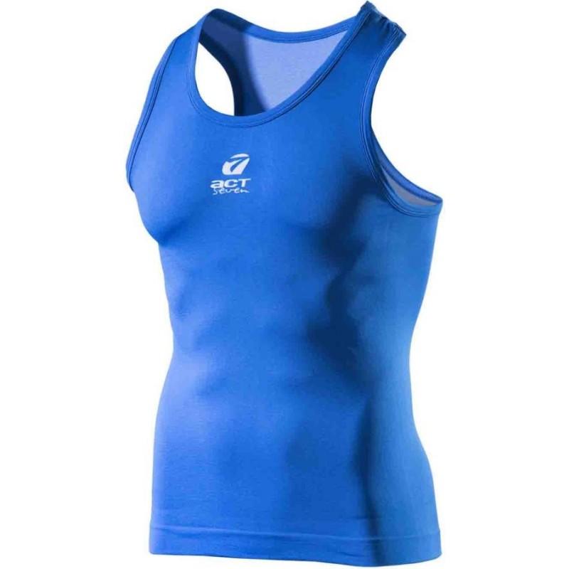 canotta sport uomo seamless colore  blue taglia-l-xl