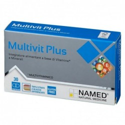 Multivit Plus 30 Compresse - Integratore di vitamine e minerali