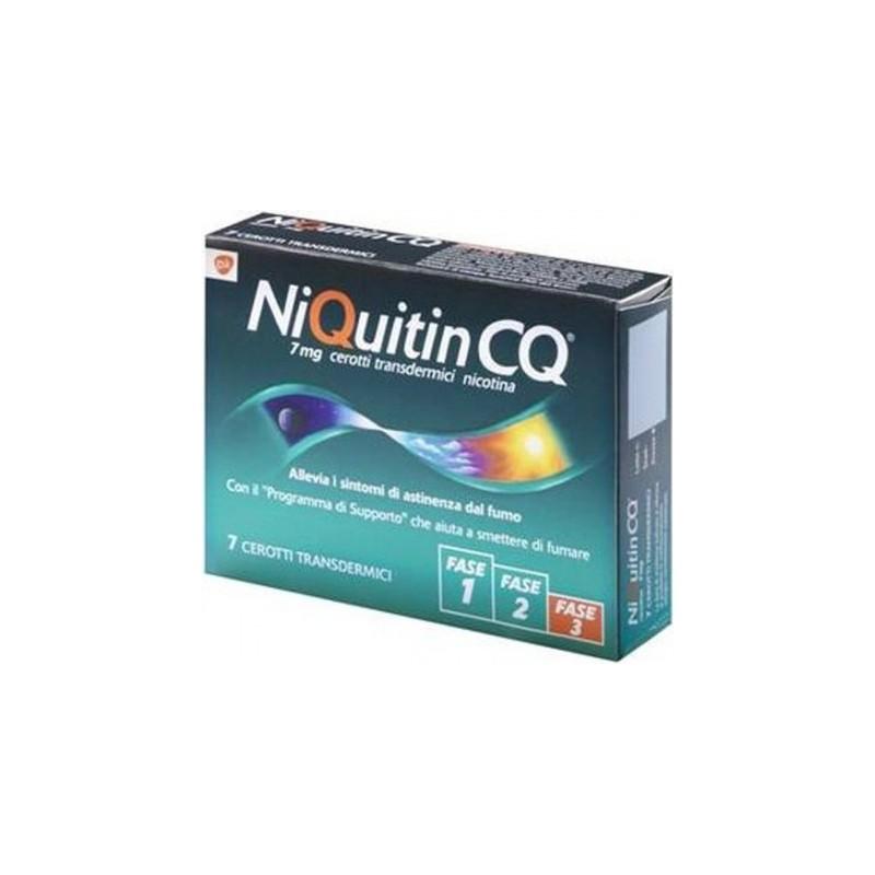 NiQuitin 7 mg/24 h - per smettere di fumare 7 cerotti transdermici