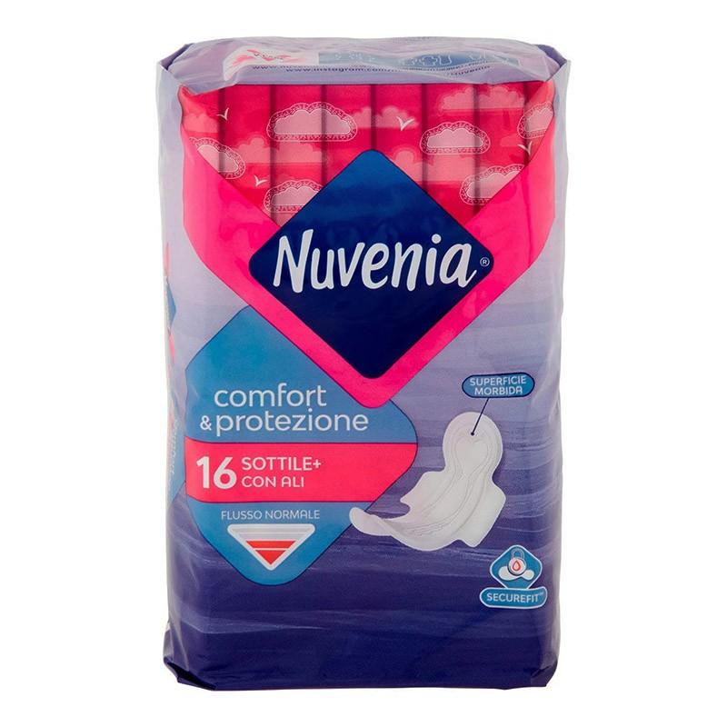 Nuvenia - Sottile+ con ali - 16 assorbenti per flusso normale