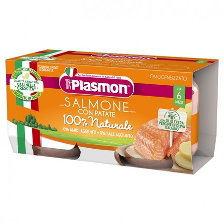 Plasmon - Salmone con patate - omogeneizzato 2x80 g