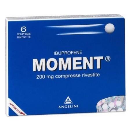 Moment 200 mg - analgesico antinfiammatorio 6 compresse rivestite
