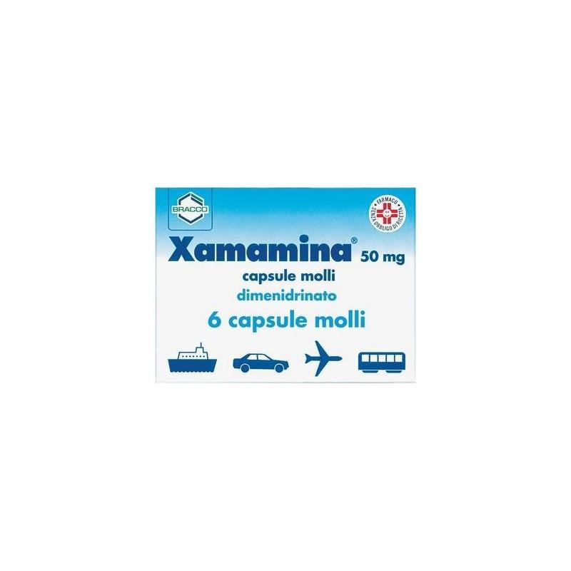 Xamamina 50 mg - mal d'auto aereo e treno 6 capsule molli