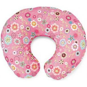 boppy - cuscino per allattamento in cotone colore rosa wild flowers