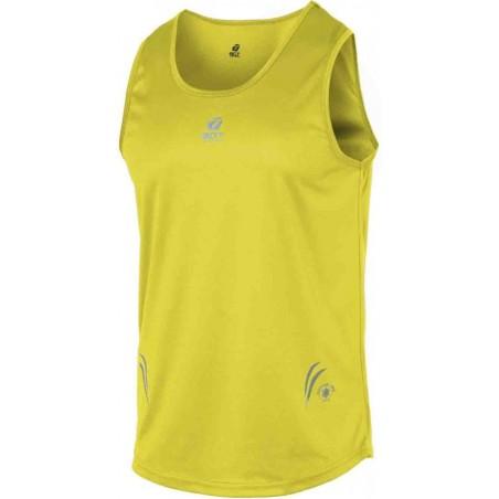 canotta sport uomo con applicazioni riflettenti colore yellow taglia-l