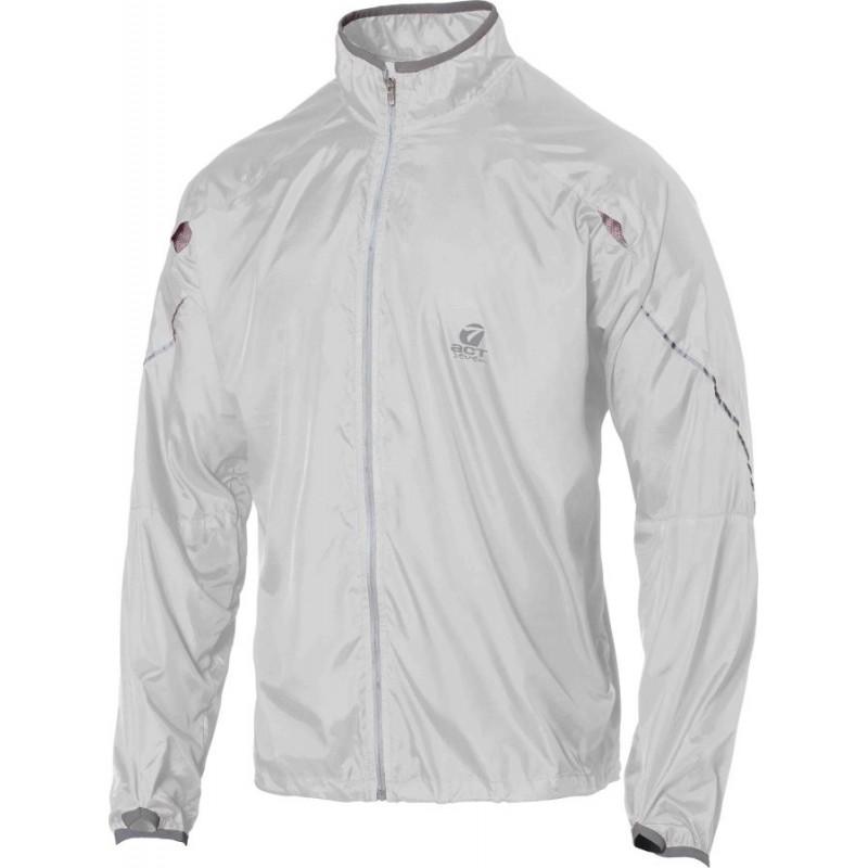 giacca anti-vento anti pioggia leggera con applicazioni riflettenti colore ghiaccio taglia -xxl