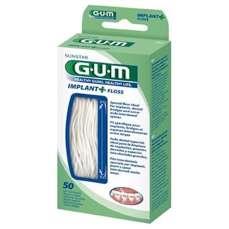 Filo Interdentale Per Ponti Gum Implant + Floss 50 Pezzi