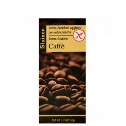 tavoletta di cioccolato al caffe' senza zucchero e senza glutine 50 g