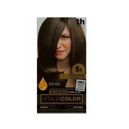TH PHARMA - Vitalia Color Tintura Per Capelli Priva Di Ammoniaca N. 5.1  Castano Chiaro Cenere 96e1ee1ef227