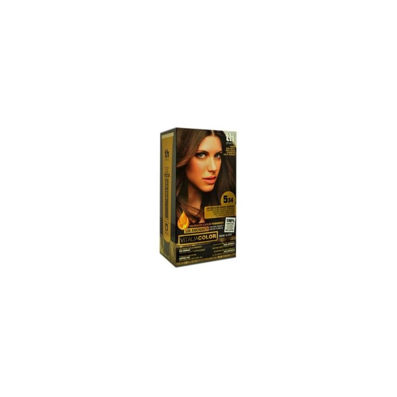 vitalia color tintura per capelli priva di  ammoniaca n. 5-34 castano chiaro dorato rame