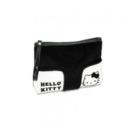 HELLO KITTY - borsa con pelliccia rasata ed ecopelle nera
