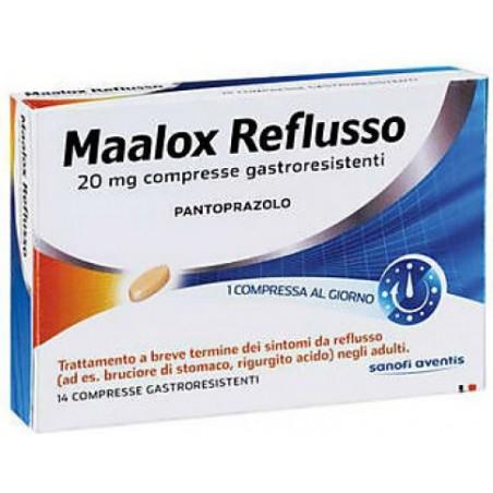 Maalox Reflusso 20 mg trattamento del reflusso gastoesofageo 14 compresse gastroresistenti