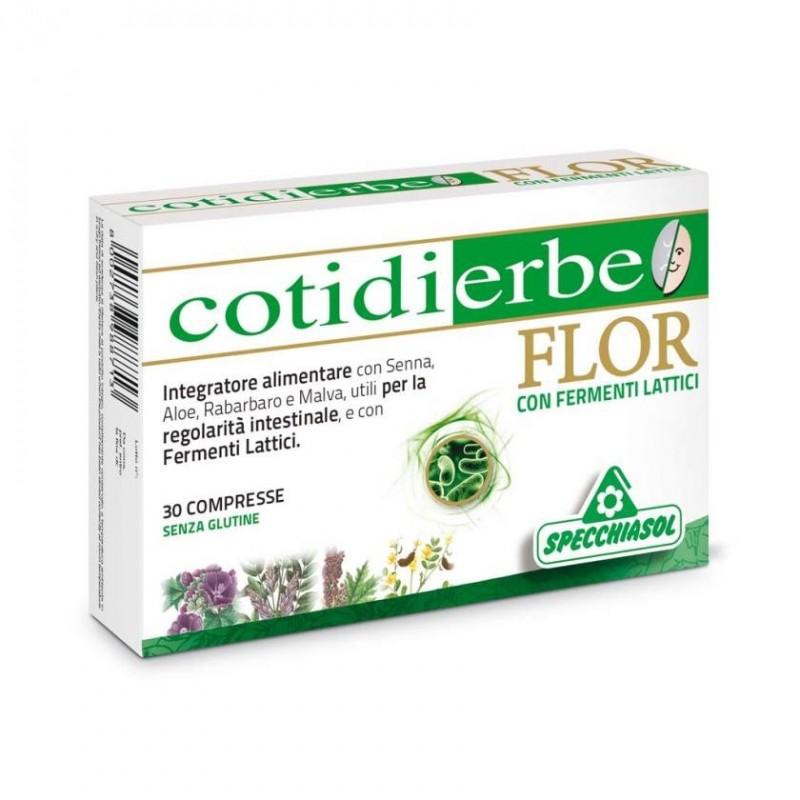 cotidierbe flor integratore alimentare per il benessere intestinale 30 compresse