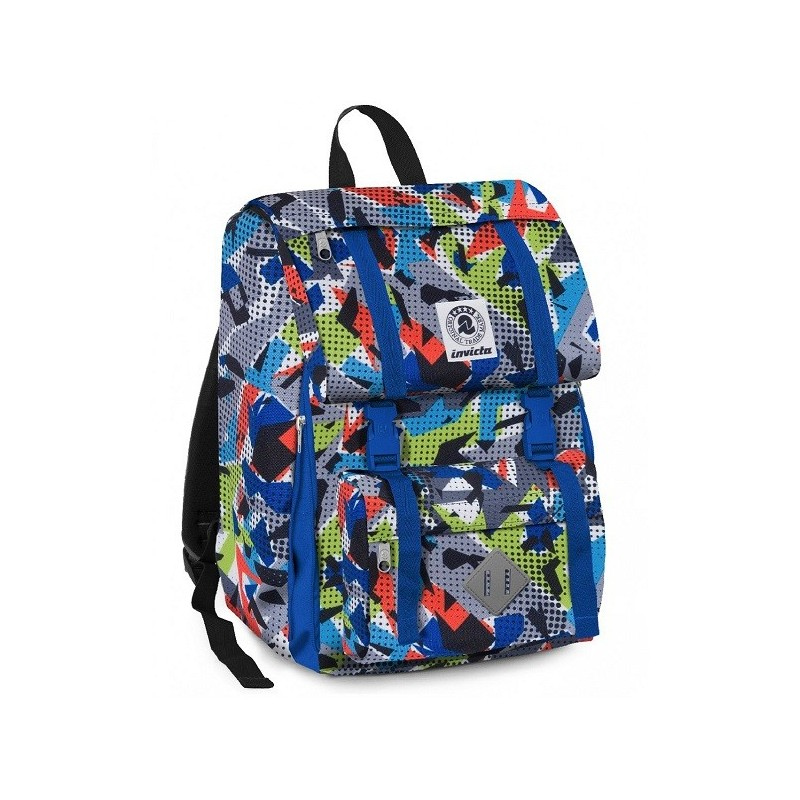 0cd427c9e5 INVICTA - Square Zaino Scuola Sdoppiabile Estensibile Boy Multicolor