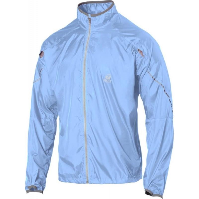 giacca anti-vento anti pioggia leggera con applicazioni riflettenti colore polvere taglia-m