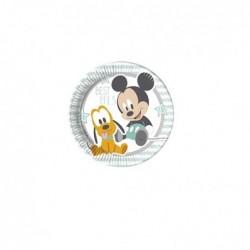 piatti Baby Mickey per il primo compleanno 8 pezzi