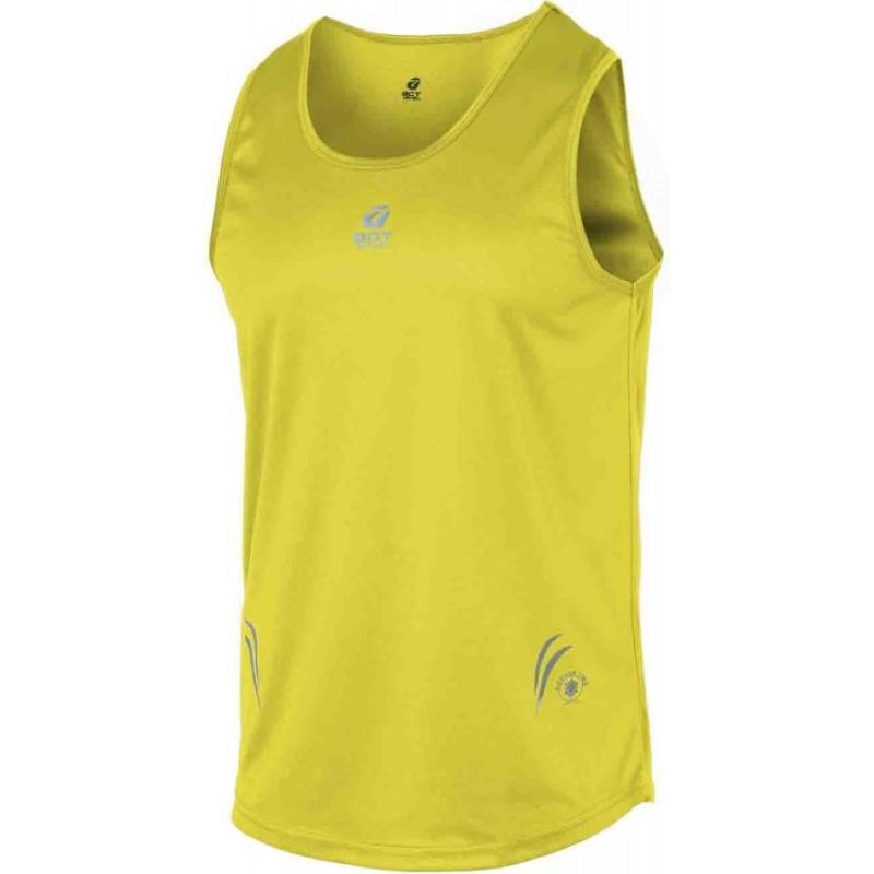 canotta sport uomo con applicazioni riflettenti colore yellow taglia-m