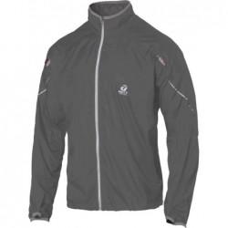 giacca anti-vento anti pioggia leggera con applicazioni riflettenti colore grigio scuro taglia--xs