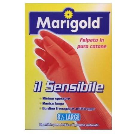 MARIGOLD - guanti felpati in cotone per pelli sensibili indicati per uso domestico taglia grande