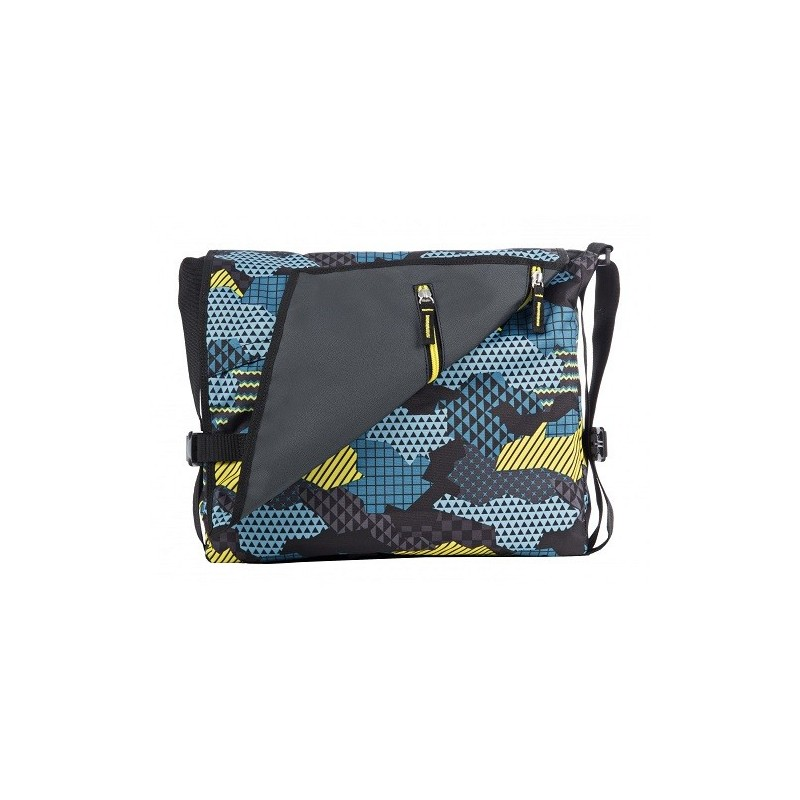 tracolla reversibile the double camouflage blu
