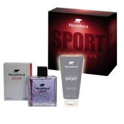 cofanetto rockford sport- eau de toilette 100 ml + shampoo doccia  gel 100 ml