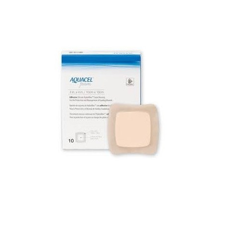 CONVATEC - Aquacel Ag foam adesivo 10x10 - confezione da 10 medicazioni sterili