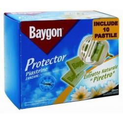 protector - 10 piastrine con estratto naturale di piretro per fornelletto