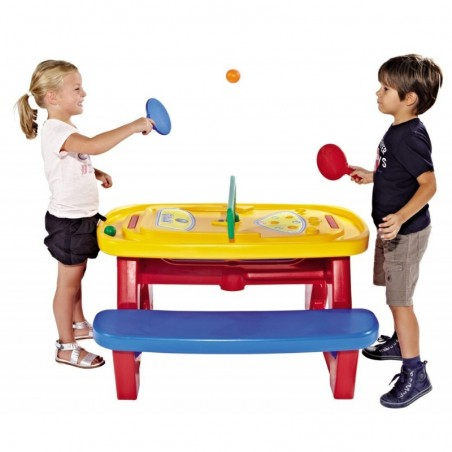 Chicco - super game table multigioco con racchette e palline incluse 3 anni+