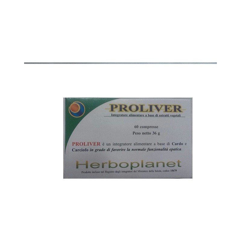 HERBOPLANET - Proliver 60 Compresse - Integratore Alimentare Per Il Fegato
