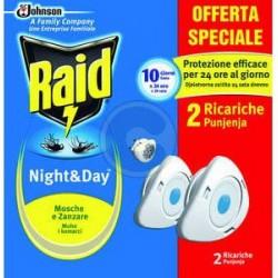 night & day - 2 ricariche protezione contro mosche e zanzare