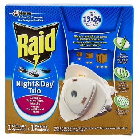 RAID - antinsetti night & day per la protezione- base + 1 ricarica