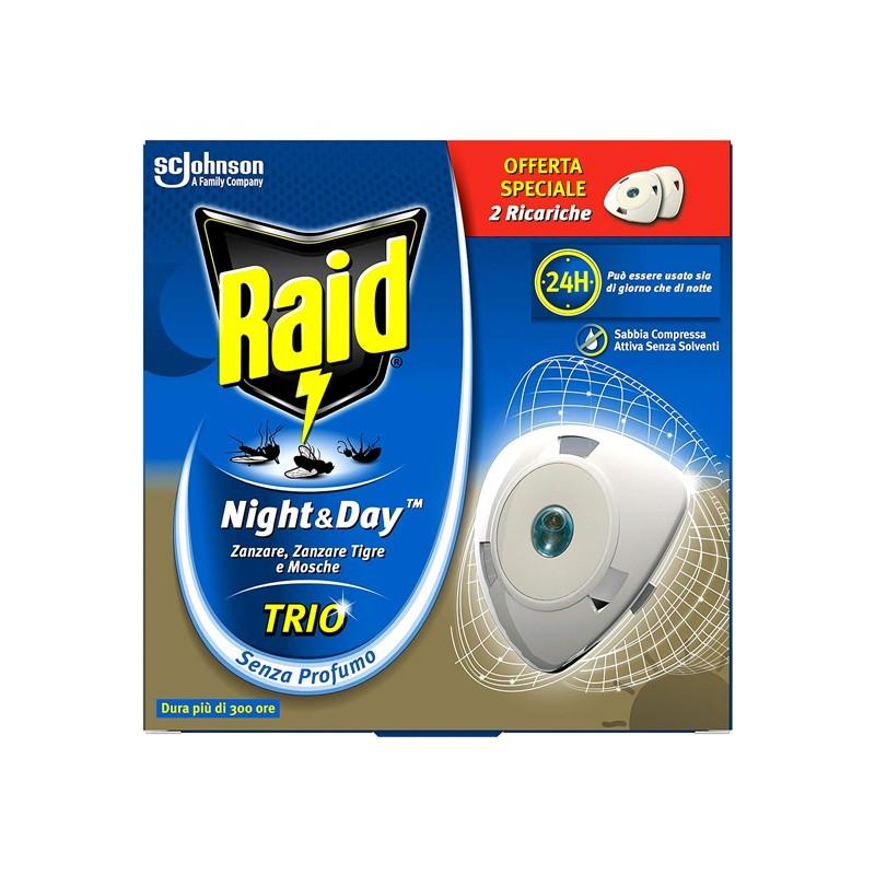 night & day trio protezione contro gli insetti doppia ricarica -