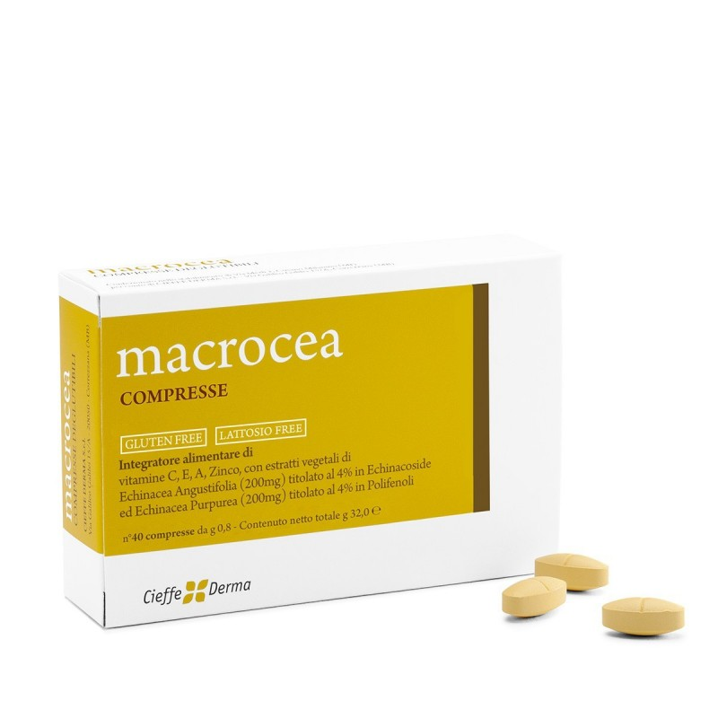Cieffe Derma - macrocea integratore alimentare per aumentare le difese organiche 40 compresse
