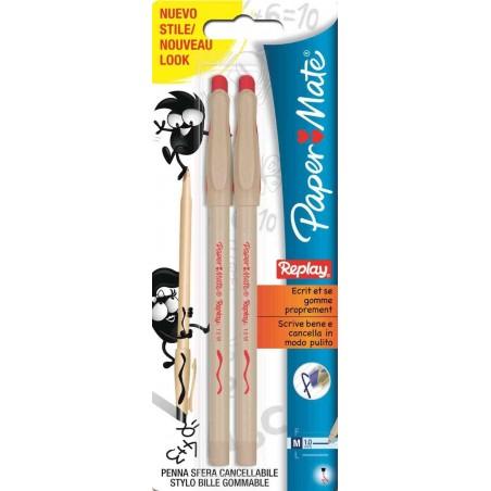 PAPERMATE - Penna rossa cancellabile - 12 confezioni da 2 penne