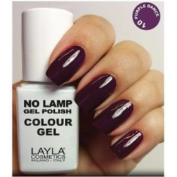no lamp gel polish smalto semipermanente n. 10 purple dance