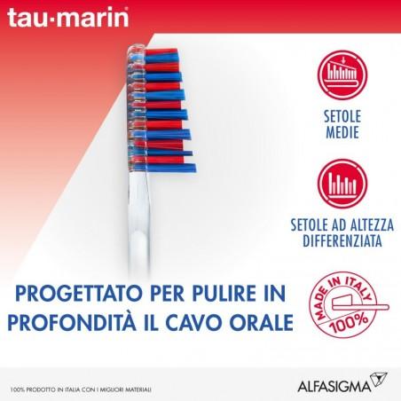 TAU-MARIN - Spazzolino Da Denti Manuale Duro Antitartaro Per Gengive Normali