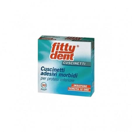 FITTYDENT - Cuscinetti Adesivi morbidi Per Protesi inferiore Dentali E Dentiere Fittydent 30 Pezzi