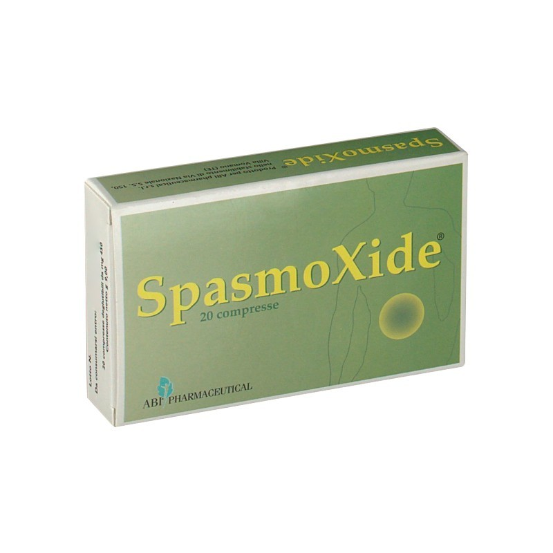 ABI PHARMACEUTICAL - Spasmoxide 20 Compresse Integratore utile In Caso Di Gonfiore Addominale, Meteorismo E Stipsi