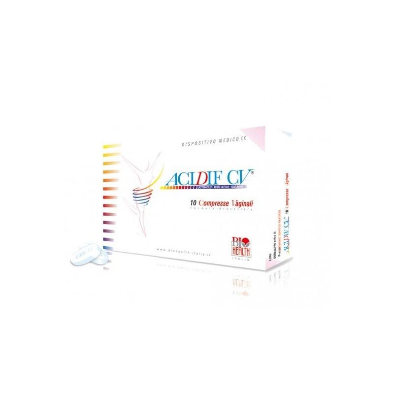 BIOHEALTH - Acidif Cv Integratore Alimentare 10 Compresse Vaginali