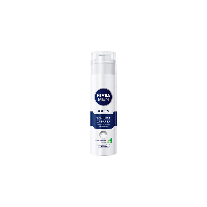 NIVEA - schiuma da barba sensitive for men 200 ml